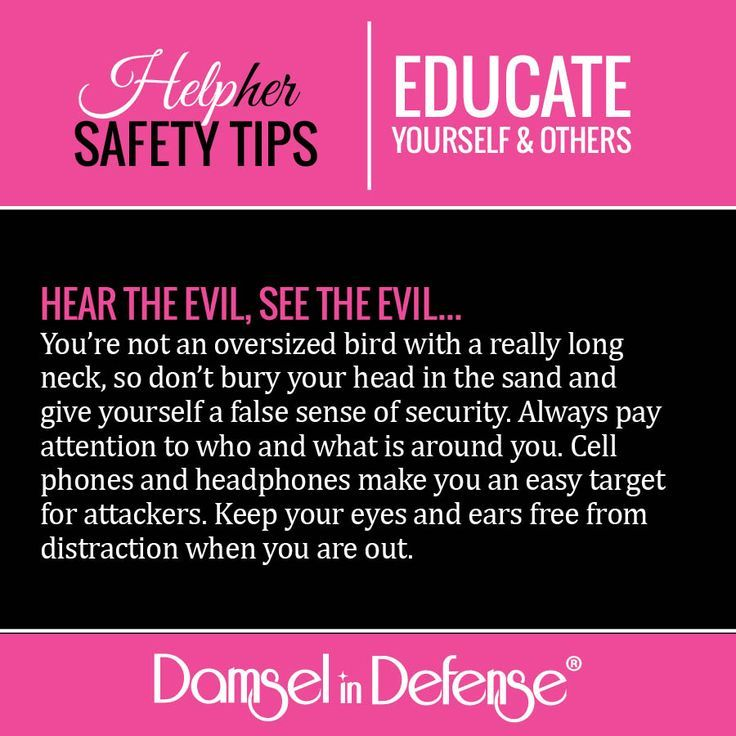 HelpHER Safety Tip - Hear The Evil, See The Evil | Damsel in Defense
