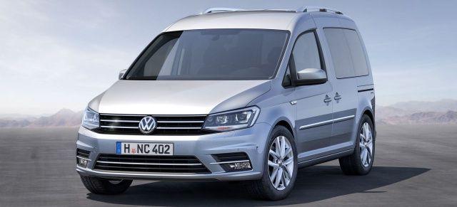 Mehr Pkw statt Nutzfahrzeug - VW wertet den kleinen Lieferwagen auf: Weltpremiere: Der neue 2015 VW Caddy