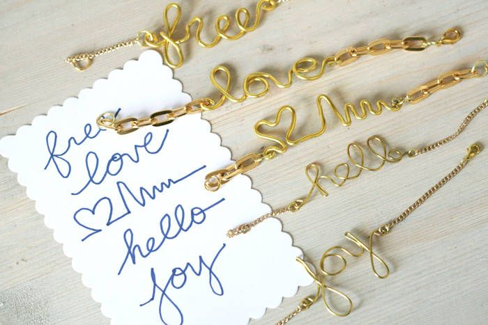 Create these cute wire word art and make into your favorite