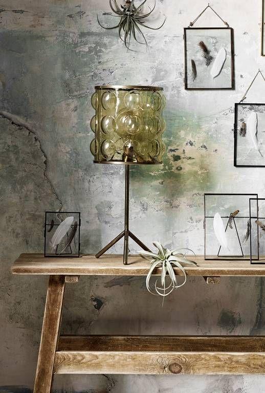 Nordal Nordal Tafellamp amber - brass