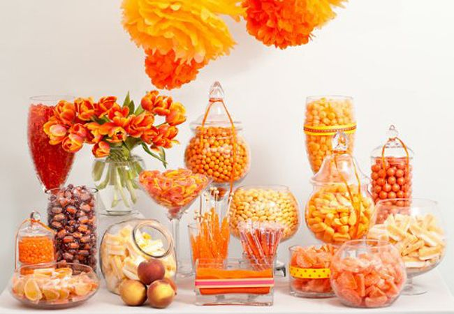 Perfect for fall. Get your Orange-Colored candy from http://www.bulkcandystore.com/colors/orange-candy