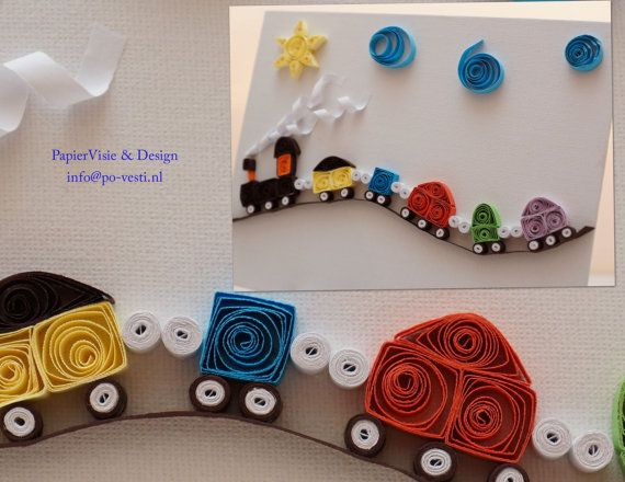 Love this quilled train set!