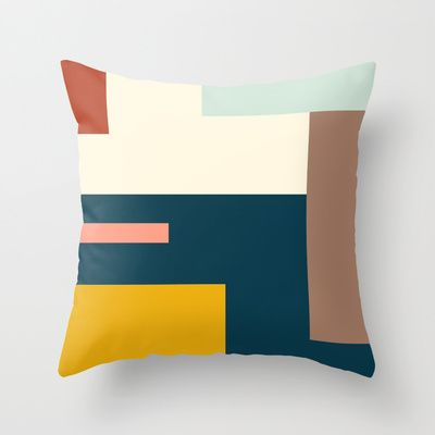 Abstraction Geo K Throw Pillow by Laura Moreau - $20.00