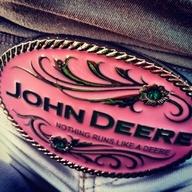 John Deere belt buckle adorable. <3