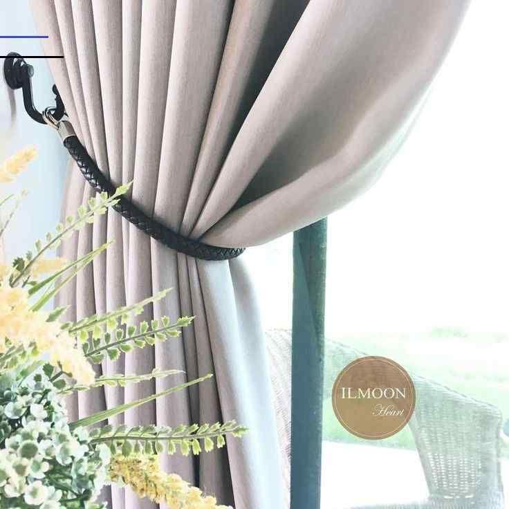 Pair X2 Leather Curtain Tie Backs Farmhouse Curtain Ties Black Decor Nautical Decor Braided Leather In 2020 Outdoor Curtains Farmhouse Curtains Black Curtains