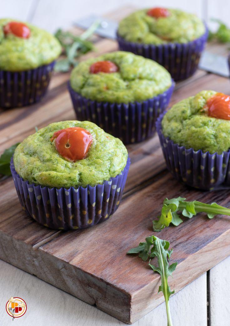 muffin salati con rucola e pomodorini - ricetta facile