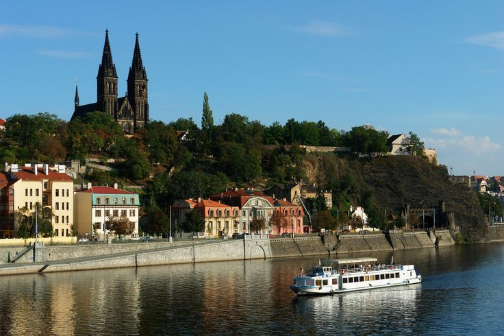 Vyšehrad as seen from the river