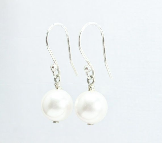 Pearl Earrings, Preppy Earrings, Dangle Earrings, Bridal, Wedding Jewelry by ABbling
