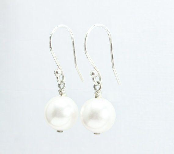 Pearl Earrings, Preppy Earrings, Dangle Earrings, Bridal, Wedding Jewelry by ABbling