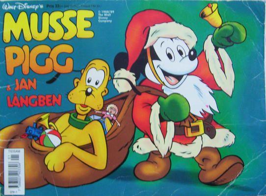 Cover for Musse Pigg & Jan Långben [julalbum] (Semic, 1972 series) #[1992]
