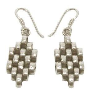 Handmade Indian Fashion Jewelry Sterling Silver Earrings 1.75 Inches (Jewelry)  http://balanceddiet.me.uk/lushstuff.php?p=B000BTIP16  B000BTIP16