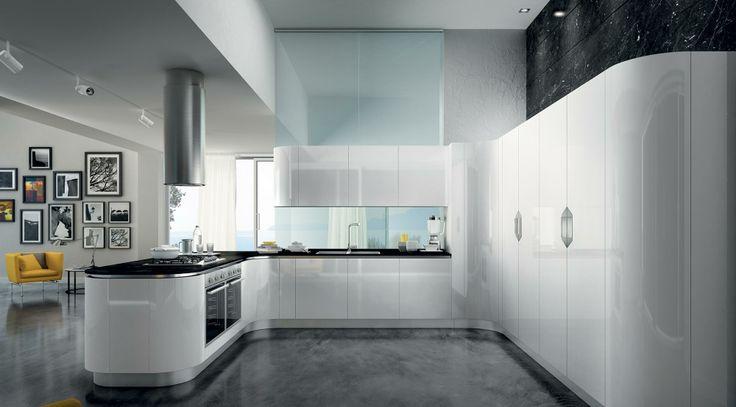 Cucina bianca. Total white kitchen.