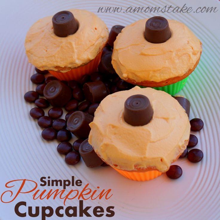 Super Easy Halloween Cupcakes Decorating Ideas Pumpkin
