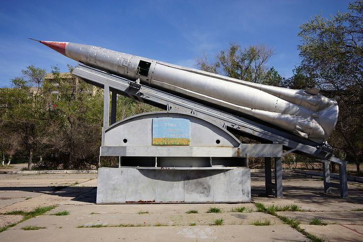 Gorgen 51T6 ABM Missile, Upper Stage, Parking Lot in Priozersk, Kazakhstan