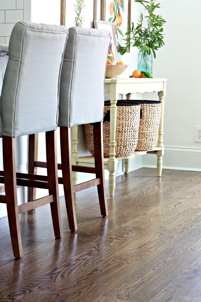 Jacobean stain on white oak hardwood flooring
