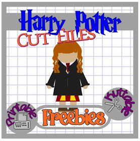 The Scrapoholic : 25 Days of HARRY POTTER Cut File Freebies! Day 18 FREE SVG MTC JPG Ginny/Hermione