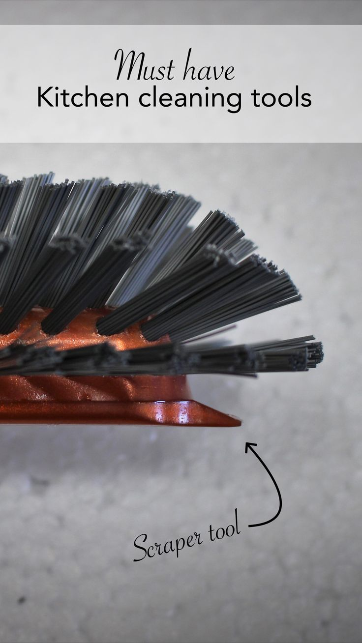 Step aside dish cloth. There are better cleaners for the kitchen.  If you own a cast iron pan, a dish brush with a built in scraper tool (like the one pictured) is a must have!  Visit the blog to find out more.