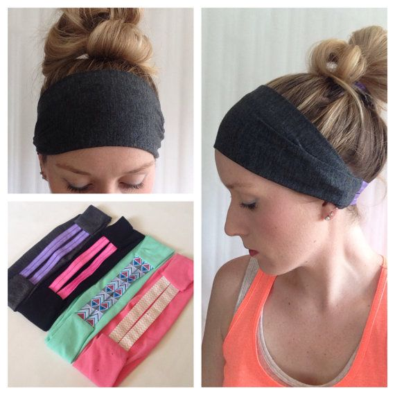 Grey Workout Headband  Yoga Headband  Knit by InADreamBoutique, $12.00
