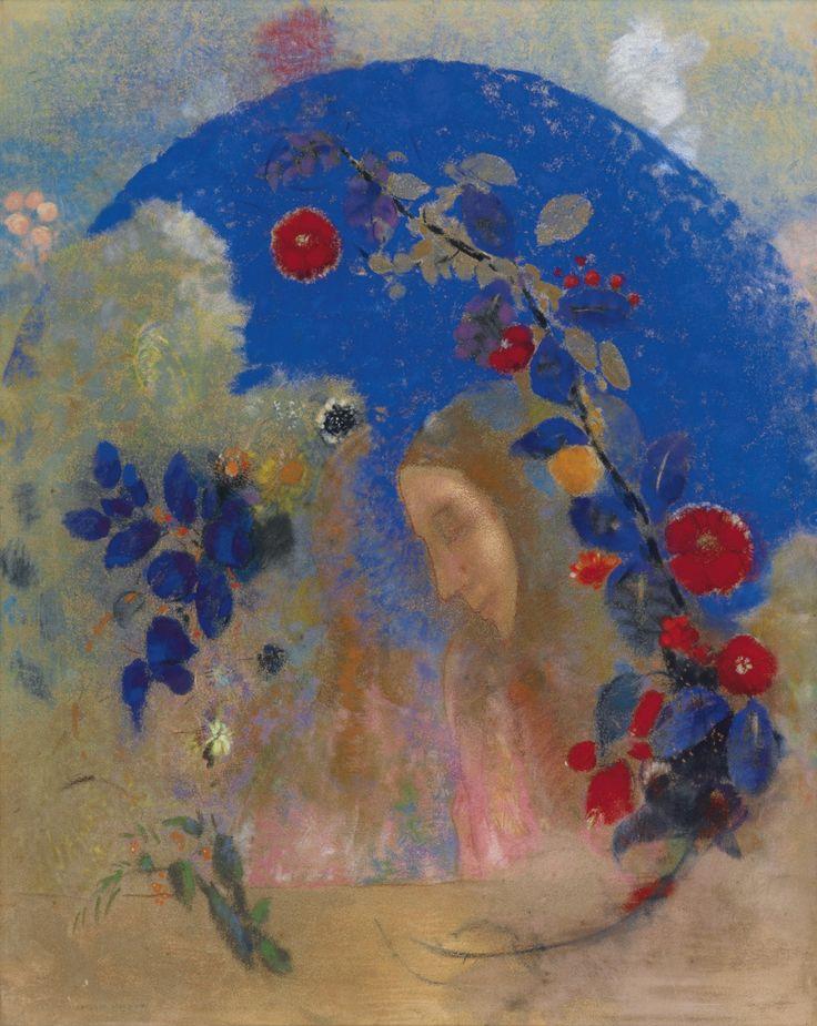 Profil sous une arche (ca. 1905) - Odilon Redon