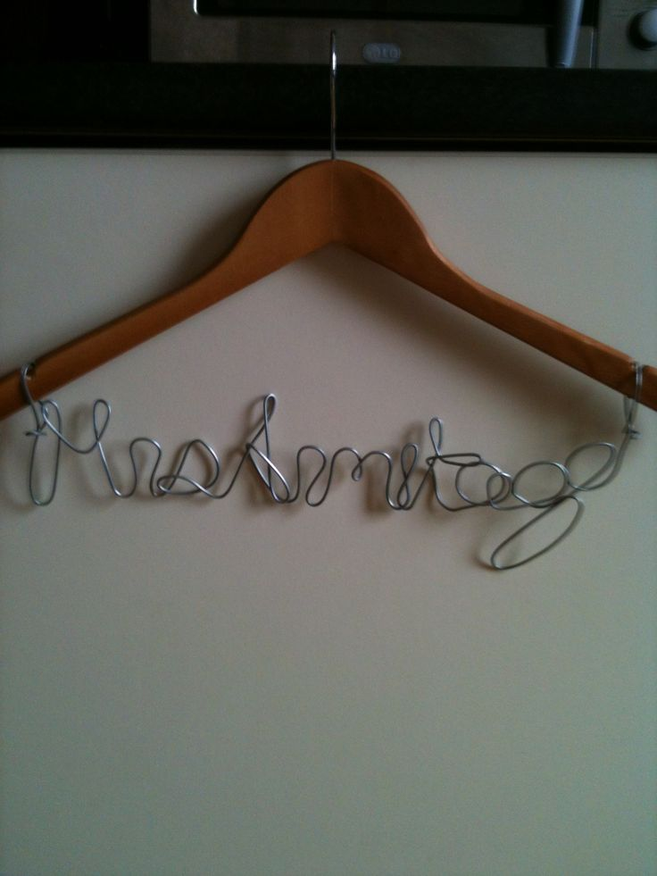 Mrs Armitage wire hanger, wedding gift given at hen-do. Made by @JoLeWo