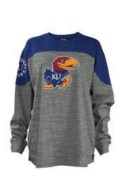 Kansas Jayhawks Womens Blue Cannon LS Tee - 22641154