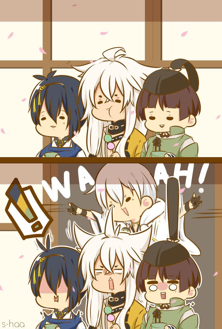 touken ranbu. Tsurumaru loves surprises