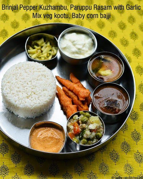 South Indian lunch ideas - Lunch menu 54   RAK'S KITCHEN