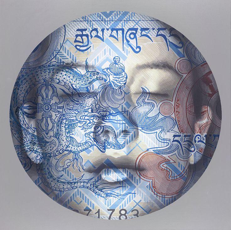 Ye Hongxing 叶红杏, Illusion No. 35 幻境35, Oil on canvas 布面油画, 150x150cm, 2014