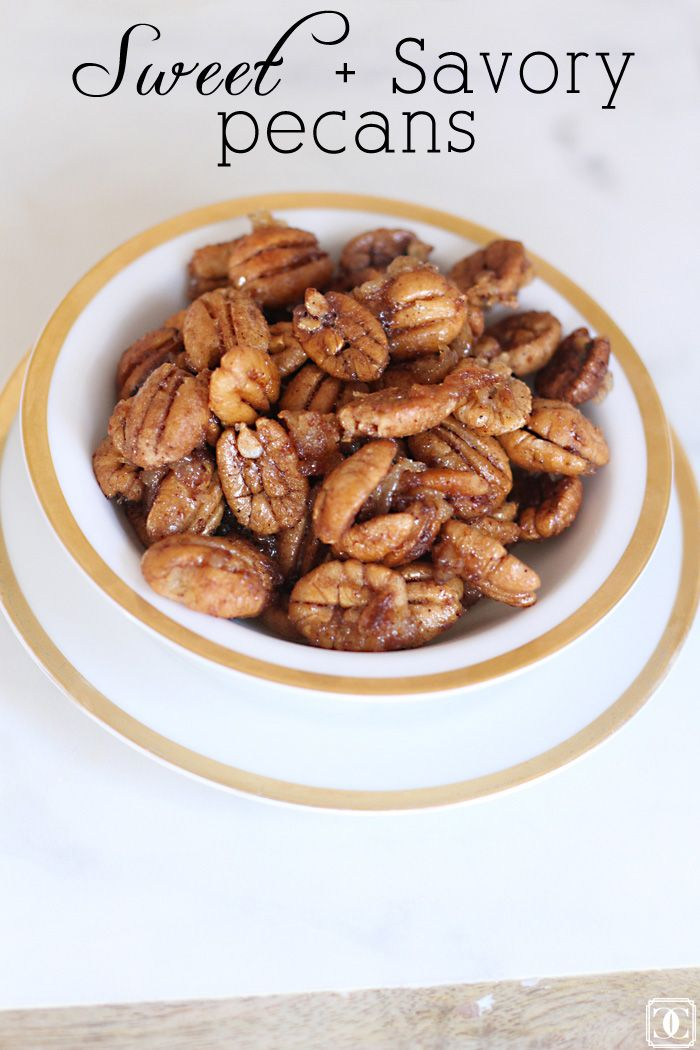 Sweet and Savory Pecans // Easy and quick and great for snacking www ...