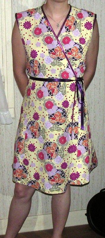 Patron pour la robe portefeuille - La couture des gros manches
