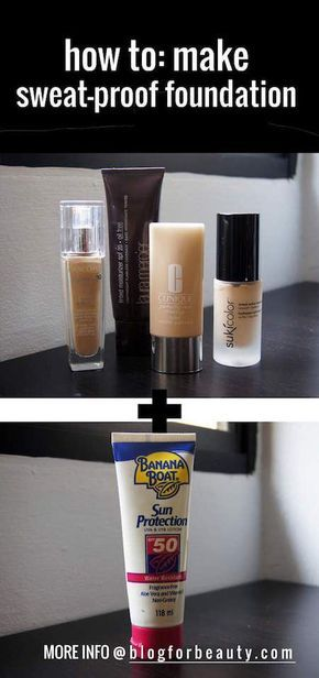 Here's a quick makeup trick on how to make sweat proof foundation. Make your own sweat proof foundation to last the heat, humidity and a night of dancing!