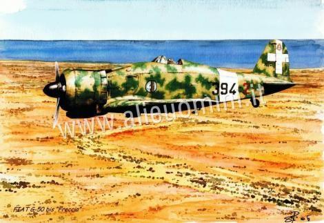 FIAT G.50 Freccia, Aerei militari, Schede tecniche aerei militari italiani e storia degli aviatori