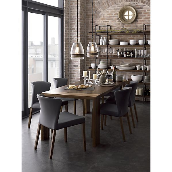 modern, industrial, rustic dining room - LG black stainless steel appliances would look perfect with this style #LGLimitlessDesign #Contest
