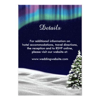 #personalize - #Northern Lights / Aurora Borealis Enclosure Card