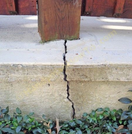 Cracked Concrete Patio Slab