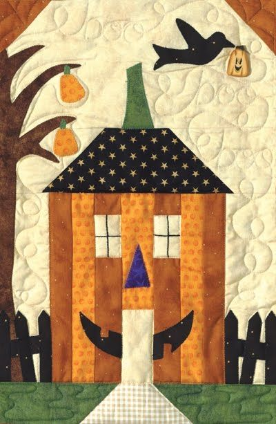 Two Ladies Patch: Halloween House Quilt