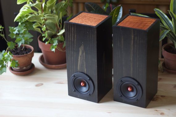 Reclaimed Wood Mini Tower Speakers  Set of Two by SalvageAudio