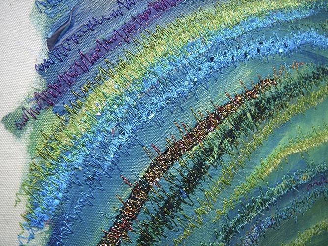 Peacock Colours :: Textiles & Mixed Media