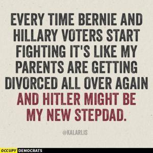 Humorous memes inspired by Democrat Bernie Sanders's 2016 presidential campaign.: Hillary vs Bernie Voters