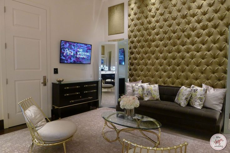 Bridal suite at the Chapel at Aria Las Vegas