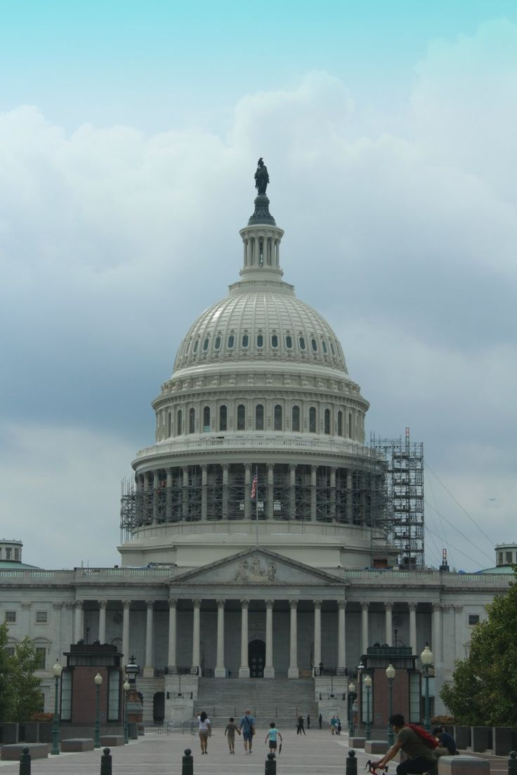 Despite the scaffolding it was an amazing thing to finally see - the Capital Building in Washington D.C.