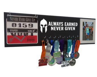 Running medal holder - medal holder - medal hanger - medal display - gifts for runners - running gifts - marathon gift - spartan race