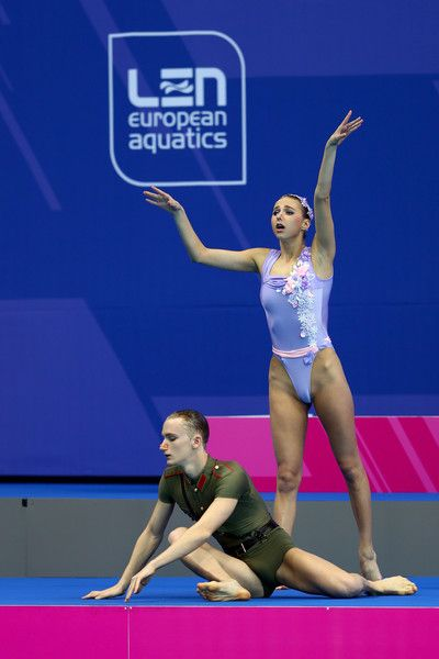 Aleksandr Maltsev Photos Photos - Aleksandr Maltsev and Mikhaela Kalancha of Russia compete in the Duet Mixed Technichal Final on day five of the 33rd LEN European Swimming Championships 2016 at Aquatics Centre on May 13, 2016 in London, England. - 33rd LEN European Swimming Championships 2016 - Day 5
