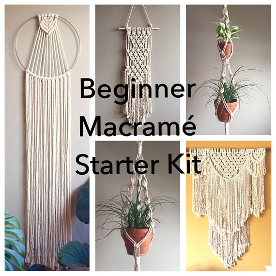 Beginner Macrame Pattern Starter Kit 5 Beginner Patterns Pdf Diy