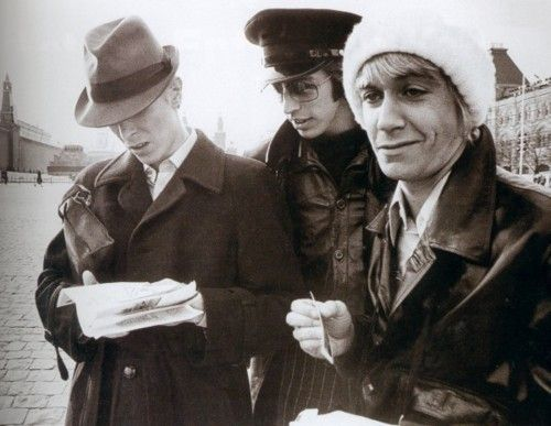 DAVID BOWIE & IGGY POP / RED SQUARE, MOSCOW