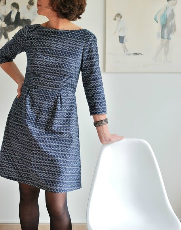Peony Dress by Colette Patterns - Super simple dress with three-quarter sleeves. So pretty.