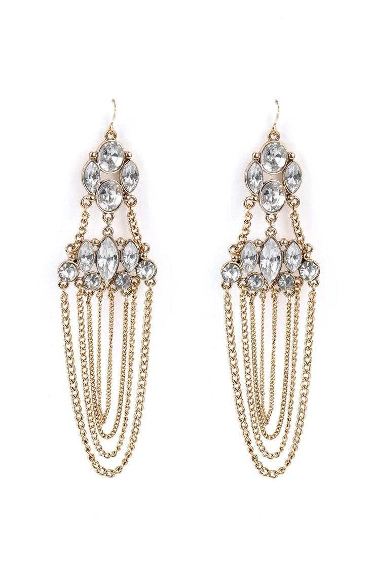 Vintage Drape Earrings @ www.juvalia.in