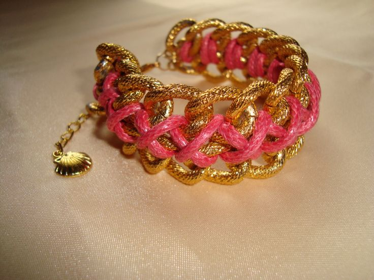 bracelet with chain and leather cord  https://www.facebook.com/pages/Handmade-Creations-by-Efi/187659788043676