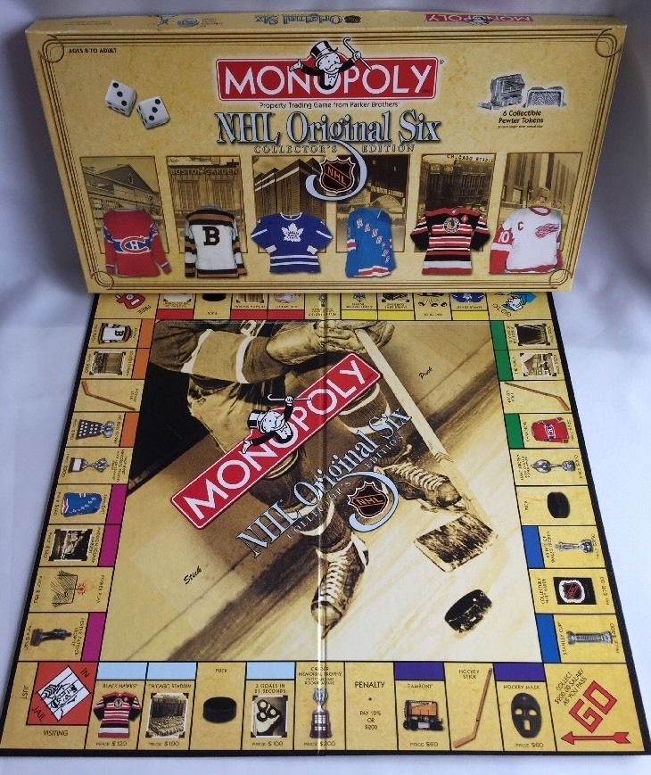 Monopoly NHL Hockey The Original Six Parker Brothers Board