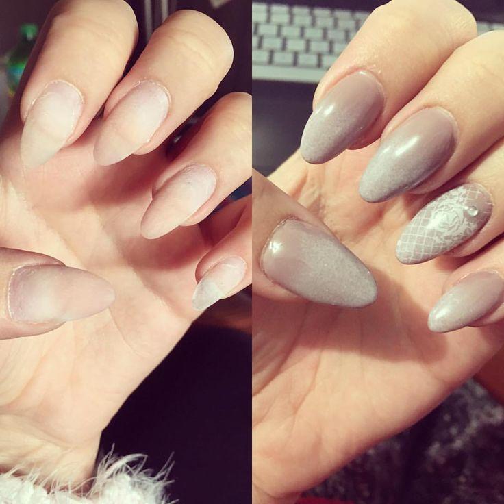"""""""Before and after nails !! Love doing my 💅 #nails #naildesigns #nailart #nailswag #nailsdone #nude…"""""""